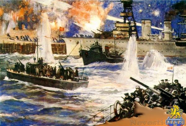 В 74-ю годовщину Керченско-Феодосийского десанта в Феодосии торжественно захоронили останки 137 советских бойцов  - «Феодосия»