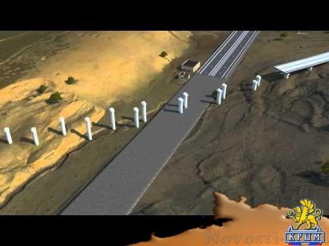 Проектировщики обнародовали видеопрезентацию проекта железнодорожных подходов к Крымскому мосту со стороны Керчи  - (видео)
