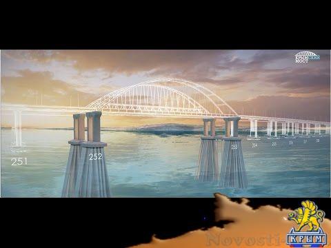 В Крыму начали готовится к сборке первого пролета железнодорожной части Крымского моста  - (видео)