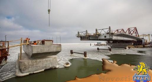 Строители Крымского моста приступили к монтажу пролётов на морские опоры (ФОТО, ВИДЕО) - «70 лет Победы»