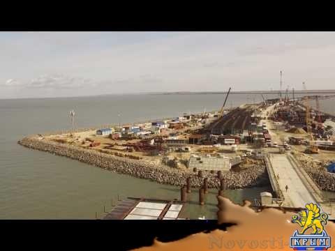 На сухопутных участках Крымского моста завершили погружение свай  - (видео)