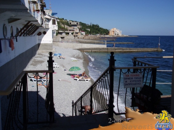 Отдых в Ялте. На Самом берегу моря в Ялте. Эллинг 3-7 чел. Свой пляж. Отдых в Крыму 2017 - жильё в Крыму без посредников - «Отдых в Ялте»