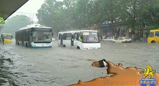 Власти Симферополя сообщили о подтоплении нескольких улиц: такого дождя не было три года (ВИДЕО) - «Общество Крыма»