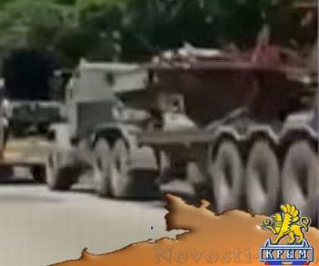 Сгоревшую технику украинской армии колоннами вывозят из зоны АТО (ВИДЕО) - «Происшедствия Крыма»