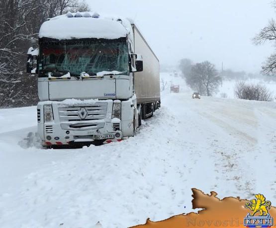 Непогода стала причиной скопления грузовиков на участке от Белогорска до Старого Крыма  - «Белогорск»