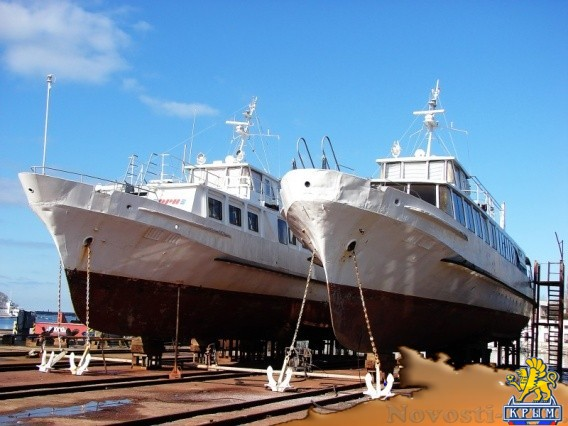 В Севморзавод зашли на ремонт два пассажирских теплохода - «Деньги»