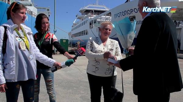 Керченская паромная переправа встретила миллионного пассажира  - «Видео новости - Крыма»
