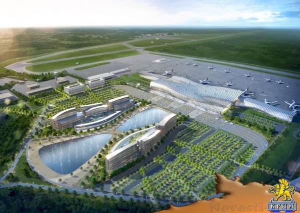 Аэропорт Симферополь отказался от водоёмов рядом с новым терминалом ради безопасности полётов (ФОТО) - «Туризм Крыма»