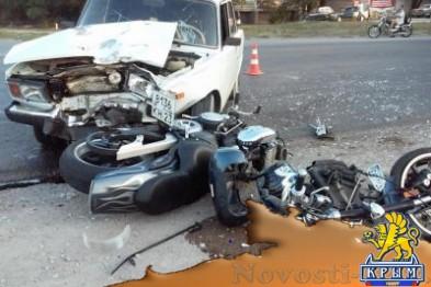 В Феодосии сбили мотоцикл - «Феодосия»