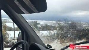 Симферопольский район засыпало снегом  - (видео)