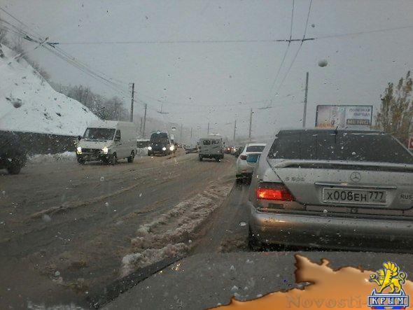 Опасная ситуация, вызванная осадками, зафиксирована крымскими метеорологами на Ангарском перевале  - (видео)