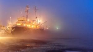 Керченская паромная переправа остановилась из-за тумана - «Керчь»