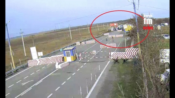 Керчанка на морозе всю ночь простояла на границе Украины с Крымом  - «Видео новости - Крыма»