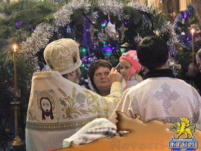 Навечерие Рождества Христова в Казанском соборе - «Феодосия»