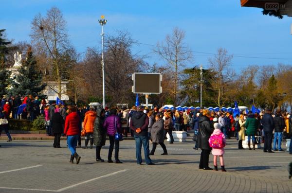 В Севастополе прошел патриотический митинг «Севастополь - за сильную Россию» - «Политика»