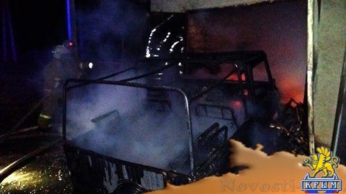 В крымском селе пожар уничтожил гараж, автомобиль и летнюю кухню,  - «Происшествия»