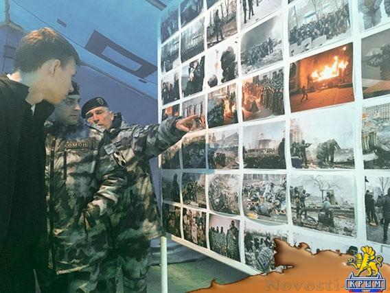 На площади Нахимова устроили фотовыставку «Майдан глазами защитников» - «Жизнь»