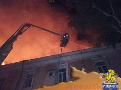 В Луцке сгорел украинский военный госпиталь - «Происшедствия Крыма»