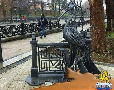 В Симферополе открыли памятник цапле - «Общество Крыма»